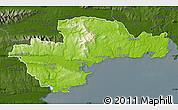 Physical Map of Waterford, darken