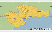 Savanna Style Map of Waterford, single color outside