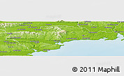 Physical Panoramic Map of Waterford