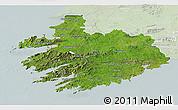 Satellite 3D Map of South West, lighten