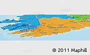 Political Panoramic Map of Cork