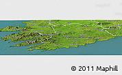 Satellite Panoramic Map of Cork