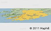 Savanna Style Panoramic Map of Cork