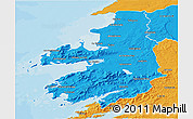 Political 3D Map of Kerry