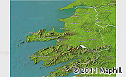 Satellite 3D Map of Kerry