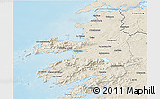 Shaded Relief 3D Map of Kerry