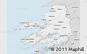 Silver Style 3D Map of Kerry