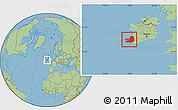 Savanna Style Location Map of Kerry