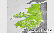 Physical Map of Kerry, desaturated
