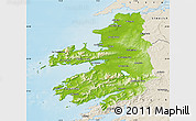 Physical Map of Kerry, shaded relief outside