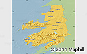 Savanna Style Map of Kerry, single color outside