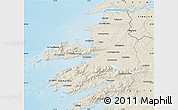 Shaded Relief Map of Kerry