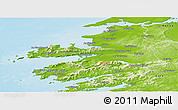 Physical Panoramic Map of Kerry