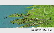 Satellite Panoramic Map of Kerry