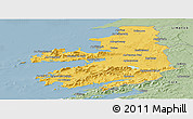 Savanna Style Panoramic Map of Kerry