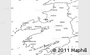 Blank Simple Map of Kerry