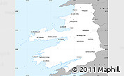 Gray Simple Map of Kerry