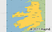 Savanna Style Simple Map of Kerry