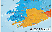 Political Map of South West, political shades outside