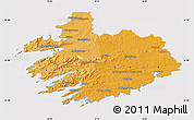 Political Shades Map of South West, cropped outside