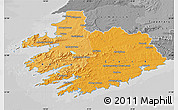Political Shades Map of South West, desaturated