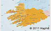 Political Shades Map of South West, lighten