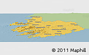 Savanna Style Panoramic Map of South West, single color outside