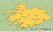 Savanna Style Simple Map of South West, cropped outside