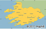 Savanna Style Simple Map of South West, single color outside