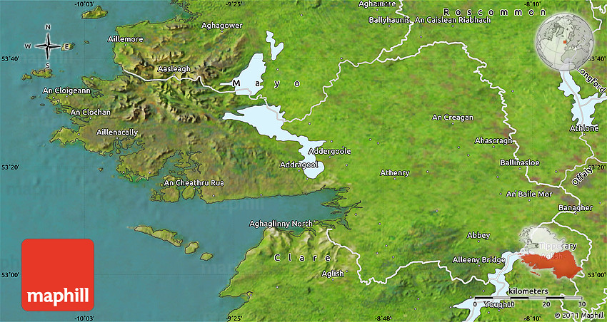 Satellite Map of Galway