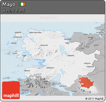 Gray 3D Map of Mayo
