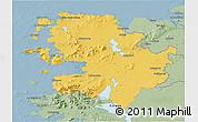 Savanna Style 3D Map of Mayo