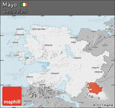 Gray Map of Mayo
