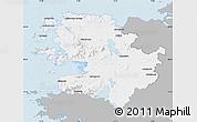 Gray Map of Mayo, single color outside