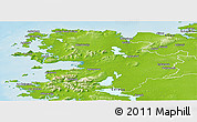 Physical Panoramic Map of Mayo