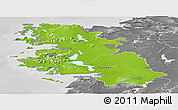 Physical Panoramic Map of West, desaturated