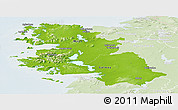 Physical Panoramic Map of West, lighten