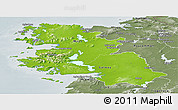 Physical Panoramic Map of West, semi-desaturated