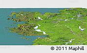 Satellite Panoramic Map of West
