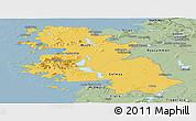 Savanna Style Panoramic Map of West