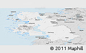 Silver Style Panoramic Map of West