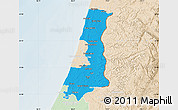 Political Map of Central District, lighten