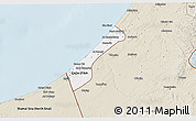 Classic Style 3D Map of Gaza