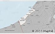 Gray 3D Map of Gaza
