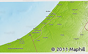 Physical 3D Map of Gaza