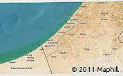Satellite 3D Map of Gaza