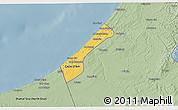 Savanna Style 3D Map of Gaza