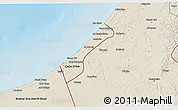 Shaded Relief 3D Map of Gaza