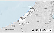 Silver Style 3D Map of Gaza
