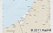 Classic Style Map of Gaza